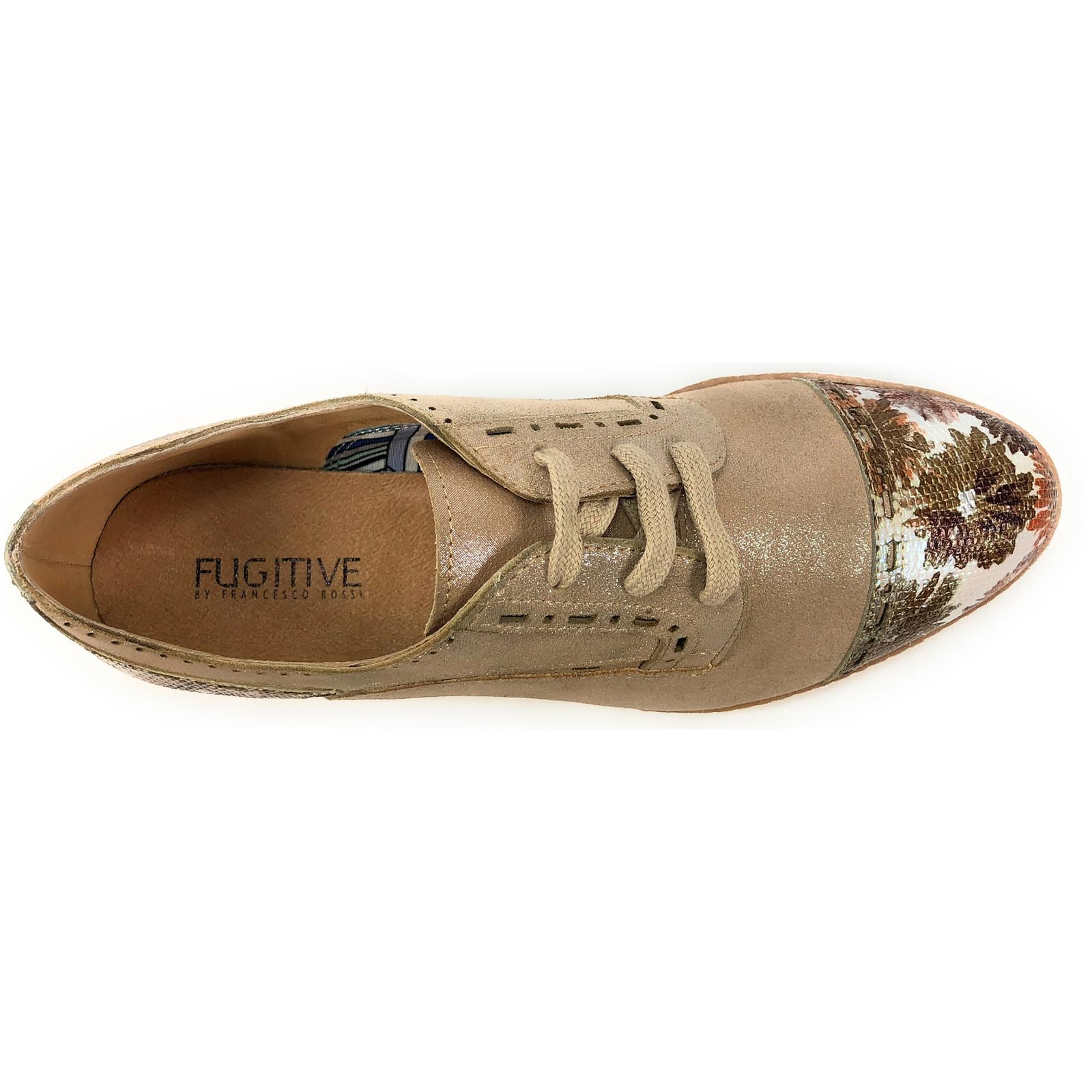 Fugitive chaussures ville lacets willer rose8003802_5
